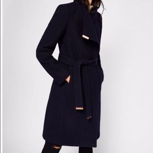 TED BAKER NEW WITH TAGS WOOL WRAP COAT SIZE 3